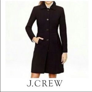 J Crew Double-cloth Colletta coat black 2